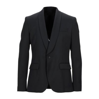 パオロ ペコラ PAOLO PECORA テーラードジャケット ブラック 50 ポリエステル 54% / ウール 44% / ポリウレタン 2% テ