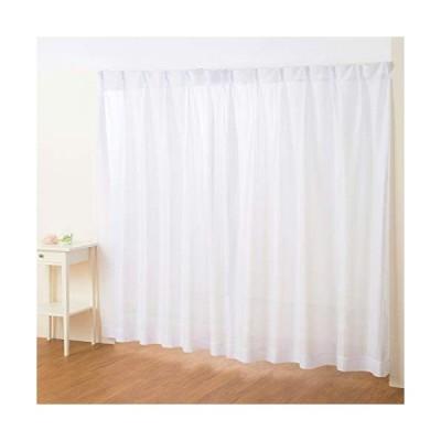 (カーテン専門店)外から見えにくい「ストライプミラーレースカーテン(幅100cmx丈176cm 2枚入り)」 全18サイズ 白 ホワイト (洗える)