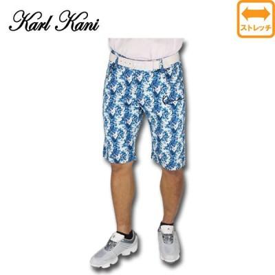 70%OFF  カールカナイ ゴルフウェア メンズ ハーフパンツ Karl Kani 大きいサイズ 総柄パンツ ストレッチパンツ 62K1811[] 5 6 7 8 9