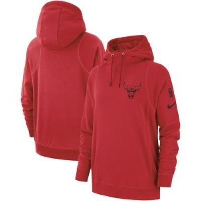 ナイキ レディース パーカー・スウェット アウター Chicago Bulls Nike Women's Courtside French Terry Pullover Hoodie Red