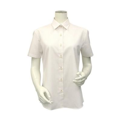 【トーキョーシャツ】 シャツ 半袖 形態安定 レギュラー衿 オーガニック綿 レディース ウィメンズ レディース ベージュ・ブラウン S TOKYO SHIRTS