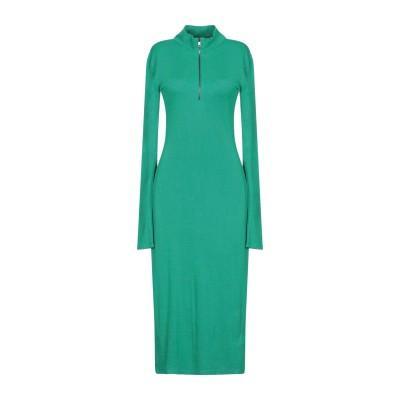 リュー ジョー LIU •JO 7分丈ワンピース・ドレス グリーン S レーヨン 95% / ポリウレタン 5% 7分丈ワンピース・ドレス