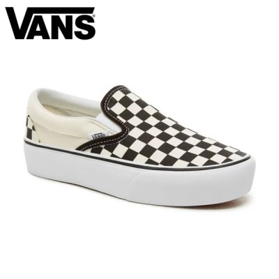 バンズ VANS SLIP-ON PLATFORM スニーカー スリッポン チェッカー 靴 厚底 黒 白 CHECK Black White VN00018EBWW