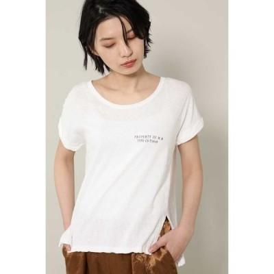 ROSE BUD / ローズ バッド [7月号GISELe掲載]ロゴTシャツ