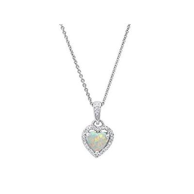 【新品】Dazzlingrock Collection ハートオパール&ラウンドホワイトダイヤモンド レディース ヘイロースタイル ハート型ペンダント スター
