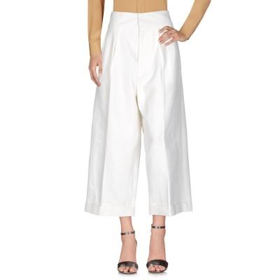 マルニ MARNI パンツ ホワイト 42 麻 54% / レーヨン 44% / ポリウレタン 2% パンツ