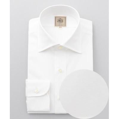 【J.プレス メンズ】 シングルニードルGIZA88 ブロードワイドカラー ドレスシャツ メンズ ホワイト系 40-85 J.PRESS MENS
