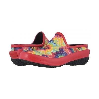 Bogs ボグス レディース 女性用 シューズ 靴 クロッグ ミュール Patch Clog Tie-Dye - Red Multi