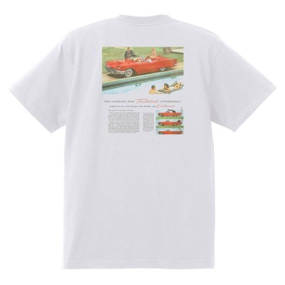 アドバタイジング フォード 830 白 Tシャツ 黒地へ変更可 1960 サンダーバード ギャラクシー ファルコン フェアレーン エドセル スターライナー