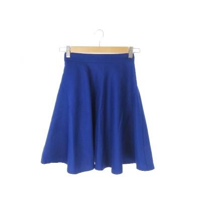 【中古】レッセパッセ LAISSE PASSE スカート フレア サーキュラー ミニ 36 青 ブルー /AO20 ☆ レディース 【ベクトル 古着】