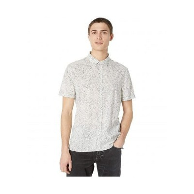 John Varvatos Collection ジョーンバルバトス メンズ 男性用 ファッション ボタンシャツ Slim Fit Short Sleeve Sport Shirt W516W1 - Silver/Grey