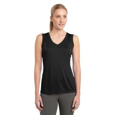 ユニセックス 衣類 トップス Sport-Tek Ladies Sleeveless PosiCharge Competitor V-Neck Tee Tシャツ