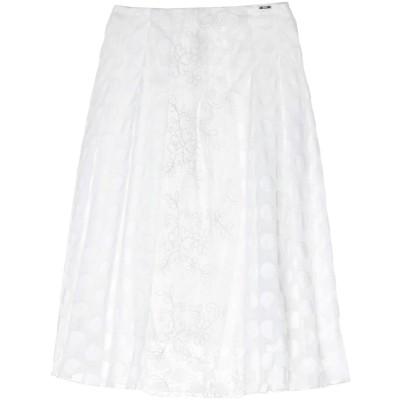 リュー ジョー LIU •JO 7分丈スカート ホワイト 40 ナイロン 60% / コットン 40% / ポリエステル 7分丈スカート