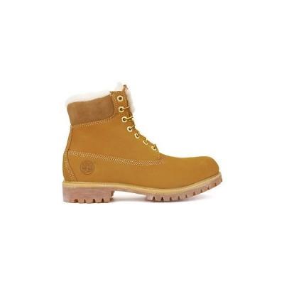ブーツ ティンバーランド Timberland 6-Inch Premium 18027 メンズ Wheat シープスキン Lined ウインター スエード ブーツ