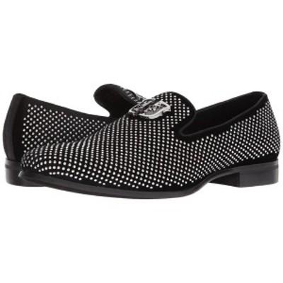 ステイシーアダムス メンズ スリッポン・ローファー シューズ Swagger Studded Ornament Loafer Black/Silver