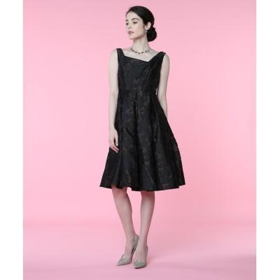 【エフデーゼ/EFDEISEE】 《M Maglie le cassetto》アシンメトリージャガードドレス