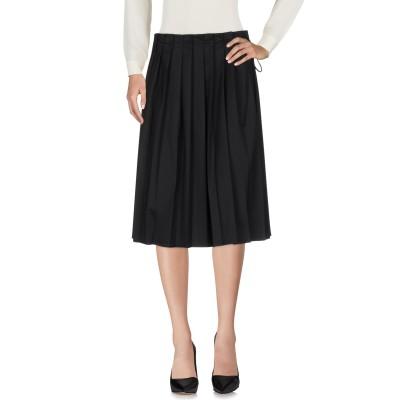 VERONIQUE BRANQUINHO 7分丈スカート ブラック 40 ポリエステル 53% / バージンウール 43% / ポリウレタン 4%