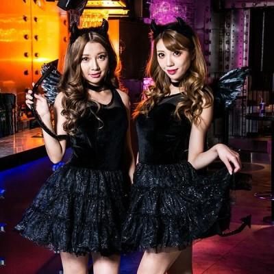 コスプレ ハロウィン コスプレ コスチューム一式 4点セット 小悪魔  ハロウィン 衣装 costume865