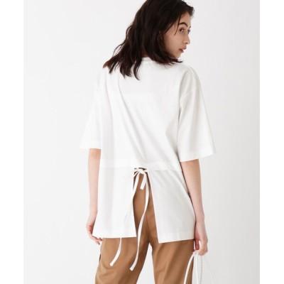 tシャツ Tシャツ シルケット天竺 バックリボンプルオーバー【WEB限定サイズ・カラー】