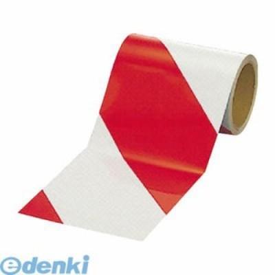 ユニット [374-13] 反射トラテープ赤/白 ポリエステル樹脂フィルム 150mm幅×10m 37413