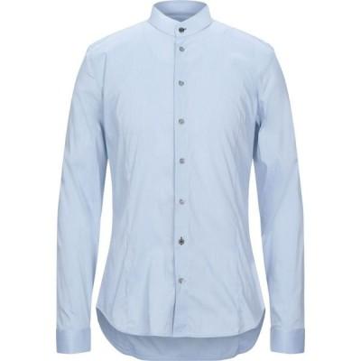 パトリツィア ペペ PATRIZIA PEPE メンズ シャツ トップス solid color shirt Sky blue