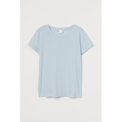 H&M - コットンTシャツ - ブルー