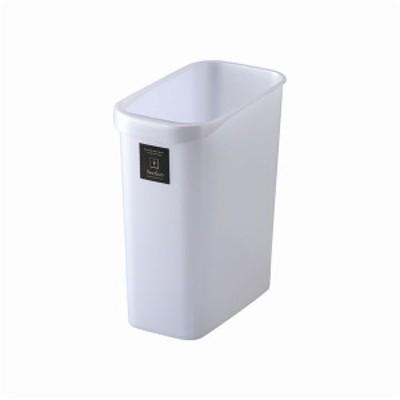 スタイリッシュ ダストボックス/ゴミ箱 〔角型 12L メタリックホワイト〕 材質:PP 『Nフレクション』 〔送料無料〕