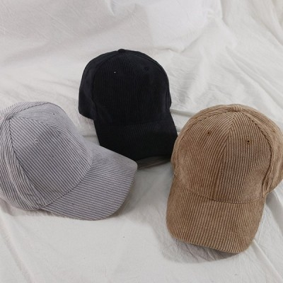 コーデュロイ ベース ボール キャップ 野球帽 帽子 スポーツ カジュアル ソリッド ハット 男性 女性 スナップバック アウトドア ヒップホップ