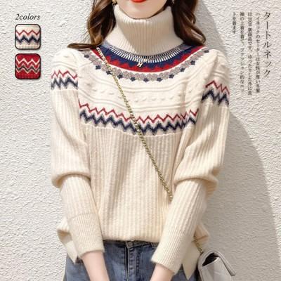 2FC337  韓国の人気爆発商品厚手のハイネックニット服セーター女性ルーズレイジーウールセーター/ハイカラー大サイズ無地厚手シャツ外でおしゃれなセーターを着るAX037