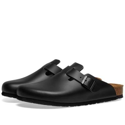 ビルケンシュトック Birkenstock メンズ サンダル シューズ・靴 Boston Black Smooth Leather
