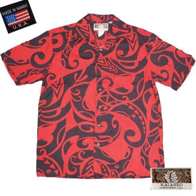 【アロハシャツ】レーヨン100% 開襟タイプ ハワイ製メンズアロハシャツ KALAHEOブランド