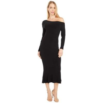 カマリカルチャー レディース ワンピース トップス Long Sleeve Drop Shoulder Fishtail Dress To Midcalf