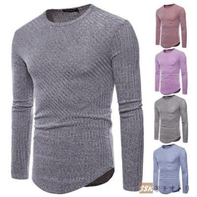 Tシャツ メンズ ロンT 長袖Tシャツ カジュアル クルーネック カジュアルTシャツ 無地 インナー