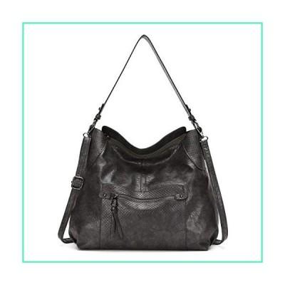 KL928 Womens Purses and Handbags PU Leather Shoulder Bag Waterproof Hobo Bags for Women Large, dark gray-91並行輸入品
