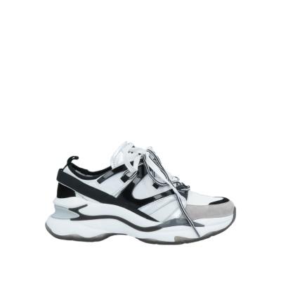 LOLA CRUZ スニーカー&テニスシューズ(ローカット) ホワイト 37 革 / 紡績繊維 スニーカー&テニスシューズ(ローカット)