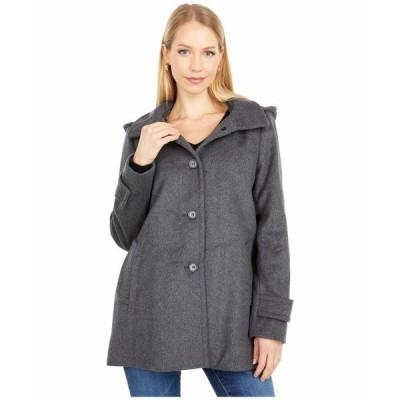 ラルフローレン コート アウター レディース Wool A-Line Reefer Coat with Removable Hood DF Grey