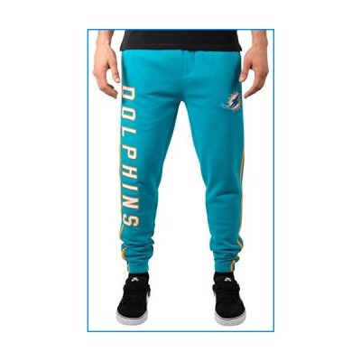 Ultra Game NFL Miami Dolphins Mens Jogger Pants Active Basic Fleece Sweatpants, Team Color Stripe, Medium【並行輸入品】