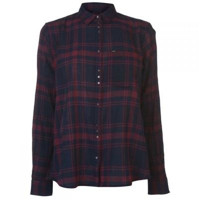 リー Lee Jeans レディース ブラウス・シャツ トップス Lee One Pocket Shirt NAVY