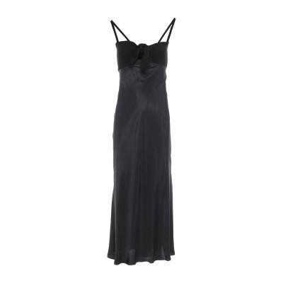MAISON FLÂNEUR 7分丈ワンピース・ドレス ブラック 42 キュプラ 100% / レーヨン / カシミヤ 7分丈ワンピース・ドレス