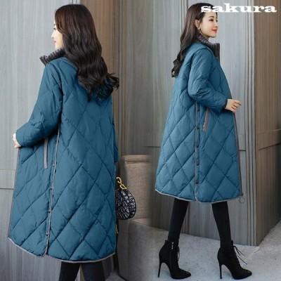 中綿ダウンコートレディース40代ロング丈軽い2020秋冬アウター中綿コート中綿ジャケットダウン風コートフード付き厚手暖かい大きいサイズスリム