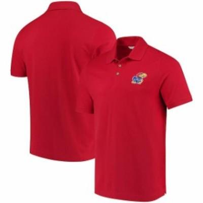 Cutter & Buck カッター アンド バック スポーツ用品  Cutter & Buck Kansas Jayhawks Red Collegiate Advantage DryTec Polo