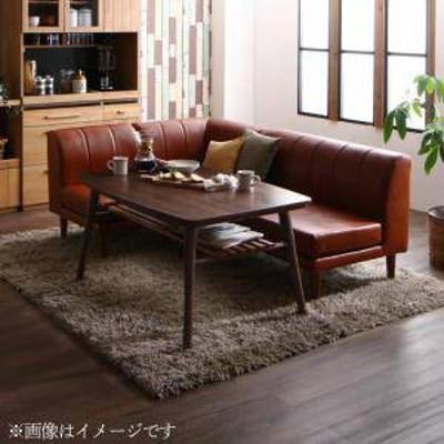 ダイニングテーブルセット 4人用 コーナーソファー L字 l型 椅子 おしゃれ 安い 食卓 レザー 合皮 カウチ 4点 ( 机+2Px1+1Px1+コーナーx1
