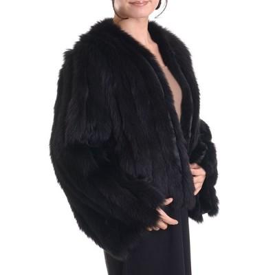 日本製ブルーフォックスファージャケットコート リバーシブル
