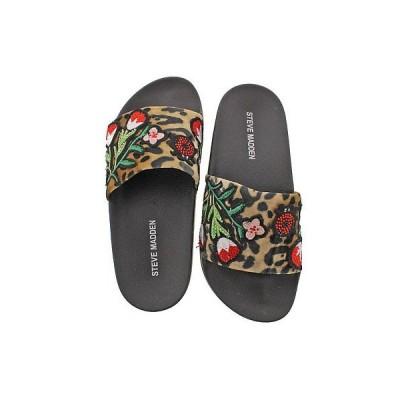 アスレチックシューズ スティーブマデン Steve Madden Patches Women's Velvet Sandal Slides Assorted Prints Size 5