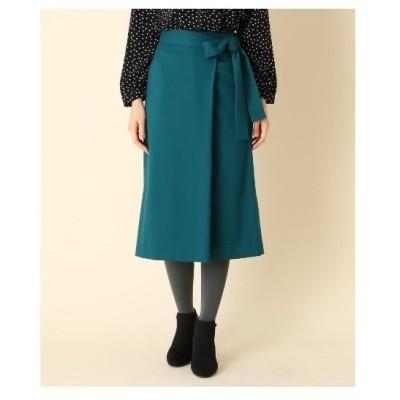 Couture Brooch(クチュールブローチ)【手洗い可】ラップ風リボンベルトスカート