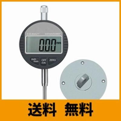 AUTOUTLET デジタルダイヤルゲージ ダイヤルインジケーター 0.01mm / 0.0005 範囲 DTI 25.4mm / 1 クロックゲージ 高精度 測定産業用