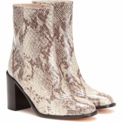 マリアム ナッシアー ザデー Maryam Nassir Zadeh レディース ブーツ ショートブーツ シューズ・靴 mars snake-effect leather ankle boo