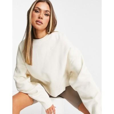 ナイキ レディース シャツ トップス Nike pullover fleece sweatshirt in off-white