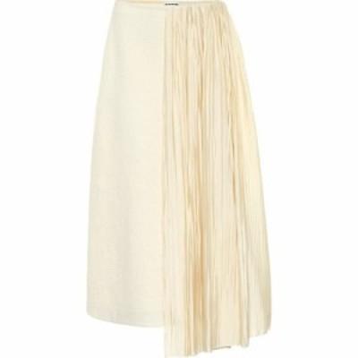 ジル サンダー Jil Sander レディース ひざ丈スカート スカート Cotton And Wool Midi Skirt Shell