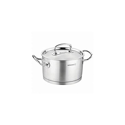 korkmaz Proline 4 Quart Stainless Steel Stockpot with High Profile Lid and